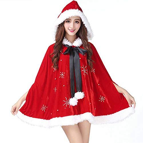 GUAN Weihnachtskostüme, große Tücher, alte Leute, heißes Bohren, weibliche Roben für Erwachsene, rollenspielende - Für Erwachsene Ghost Robe Kostüm