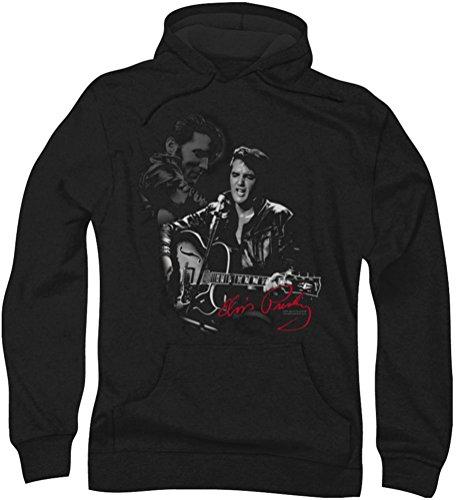 Elvis Presley - Herren-Show Stopper Hoodie, Large, Black (Elvis Sweatshirt)