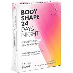 BODYSHAPE 24 Day & Night – 24h Fatburner Kapseln - der Turbo für deinen Stoffwechsel! Natürlich abnehmen – entwickelt für Frauen.