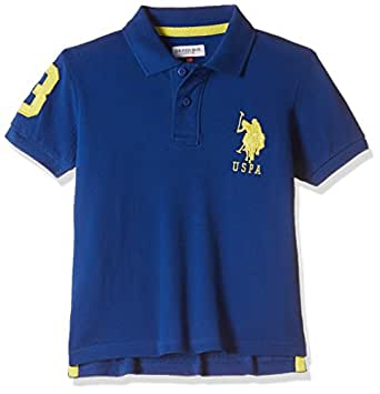 US Polo Association Boys' Regular Fit T-Shirt (UKTS5983_Classic Blue_8 - 9 years)