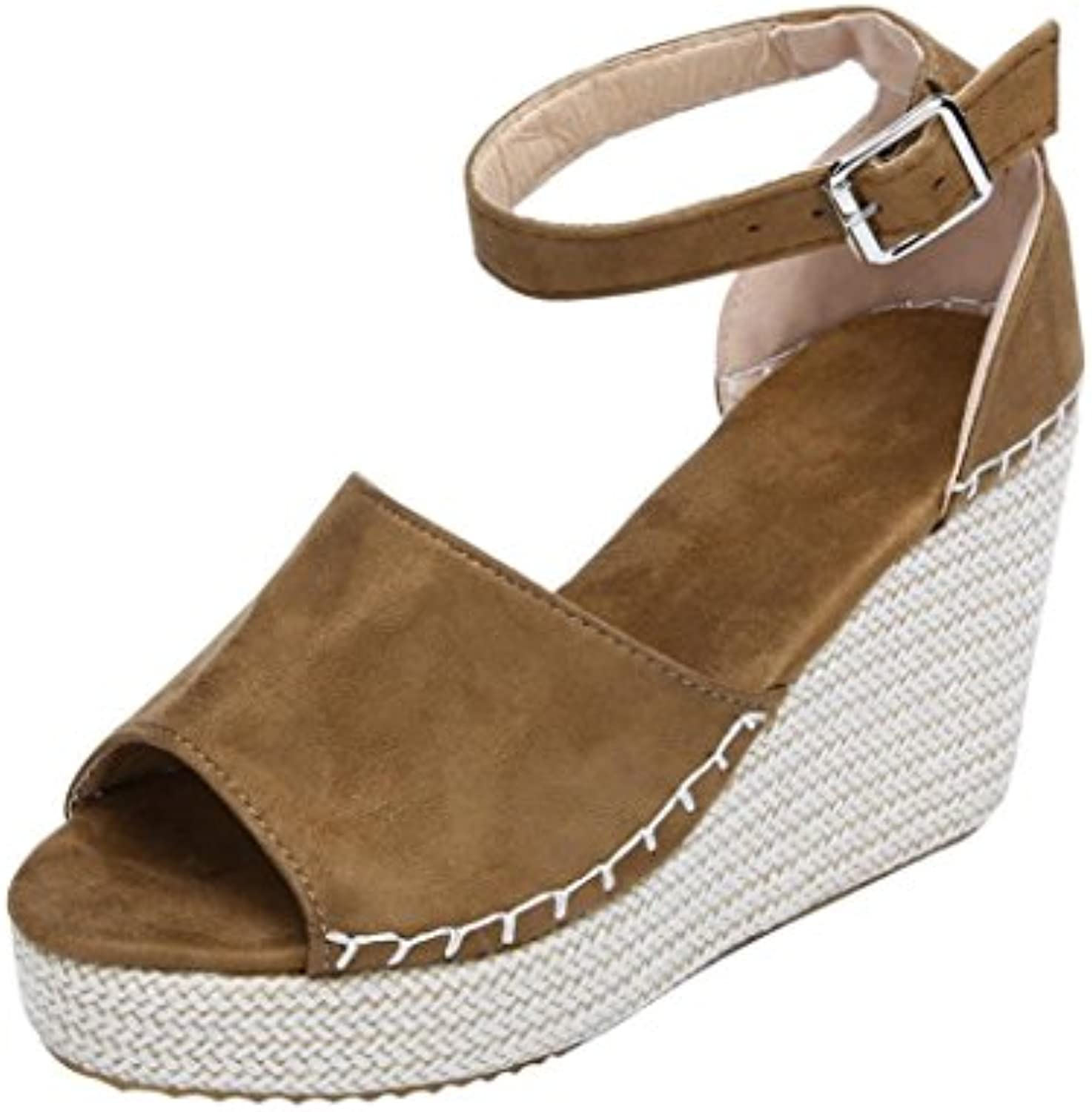 3cddf099f3e9   10085 Tefamore   10085 Tefamore   10085 Tefamore Women Fashion Dull  Polish Sandals New Sewing Peep Toe Wedges Hasp Flatform Shoes B07FY54RMC  Parent d8f47b