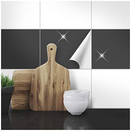 Wandkings Fliesenaufkleber für Küche und Badezimmer, 20,0 x 25,0 cm, 20 Stück - Farbe wählbar