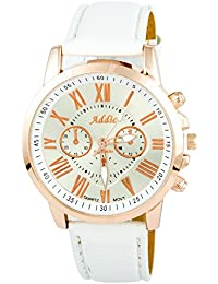 Addic Platinum Collection Rose Gold & Royal Blue Analog Watch - For Women