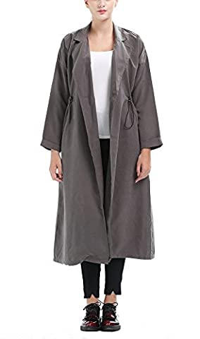 Femme Automne Hiver Manteau Cardigan Pull Uni Veste Élégante Manteau Chic Parkas Long Trench-coat Classique Manches Longues Outwear Blazer YOSICIL