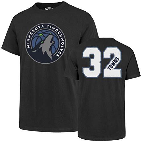 OTS NBA Herren T-Shirt NBA Player Rival Tee, Herren, Player Rival Tee, Karl Anthony Towns - Charcoal, X-Large