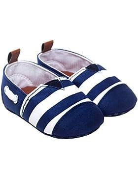 zhouba bebé Boys algodón tela antideslizante rayas First zapatos de senderismo suela blanda Toddle Prewalkers...