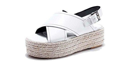 NobS Donna trasversale in pelle trasversale Heel erba dopo legato tacchi alti popolare aumento sandali scarpe casual Black