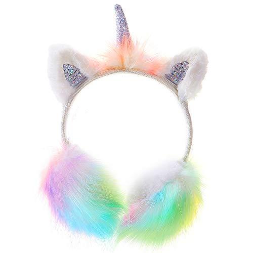 Ohrenschützer Mädchen Ohrenschützer im Plüsch Einhorn Design -