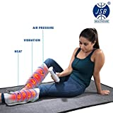 JSB HF66 Leg Massager for Foot Calf Pain Relief with Heat & Air