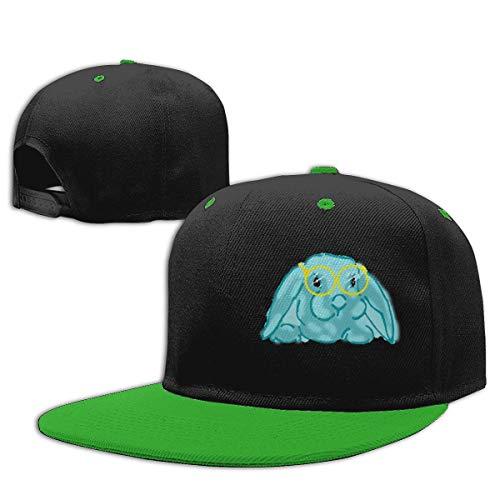 Blaue Brille Kaninchen Hip Hop Cap Baumwolle Baseball-Mütze Boy & Girl