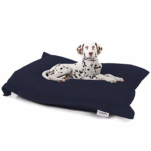 rucomfy Bean Bags Indoor/Outdoor Squarbie Pet Bean Bag-Navy - Navy Bean Bag