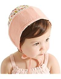 1cc02660436d Sumolux Chapeau de Soleil Chapeau Anti UV en Coton Dentelle Mignon Pour Bebe  Fille Nouveau-