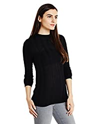 Levis Womens Striped T-Shirt (36395-0001_Black_Small)