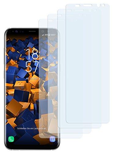 mumbi 4 x Displayschutzfolie für Samsung Galaxy S8 Folie Schutzfolie