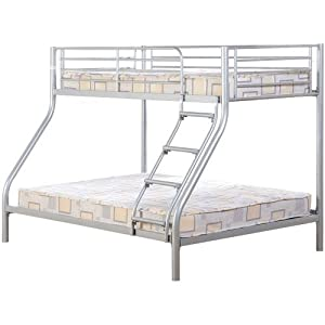 Seconique Tandi Triple Sleeper Bunk In Silver FREE DELIVERY