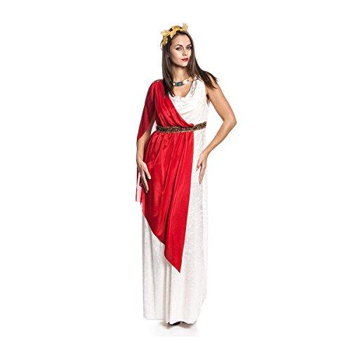 Toga Kostüme Frau (Kostümplanet® Römerin-Kostüm Damen Toga und Loorbeerkranz Römer Damenkostüm Größe)