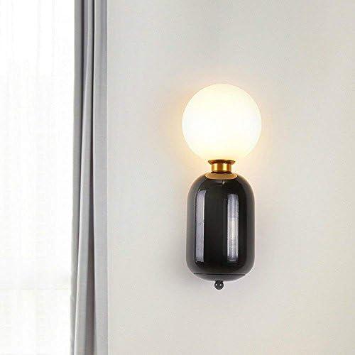 DEE Applique - nordique postmoderne créative Unique fer mur Lampe Chambre Salon Chambre Lampe étude Couloir Hall Corridor mur Lampe (Coloree en Option) -Wall décorations d'éclairage,nero b528bf