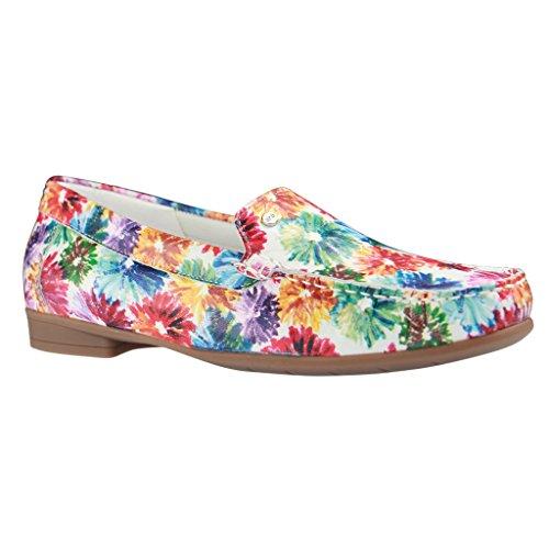 ARA Fiorello 12-30771 - Slipper multicolor da donna a pianta larga Multicolore