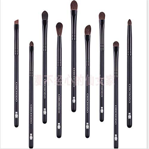 yyy123 Beauty Tools Set De Pinceaux pour Les Yeux Smudge Brush Detail Brush Paquet De 9