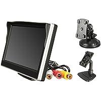 """Majome 5"""" 800 x 480 TFT LCD Pantalla HD Monitor de Alta definición para Coche retrovisor Trasera cámara de Copia de Seguridad"""