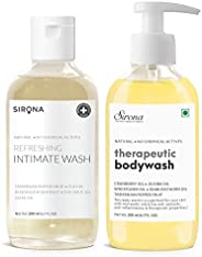 Sirona Natural Anti Fungal Therapeutic Body Wash to Reduce Body Odor, Ithing - 200 ml with with Natural pH Bal