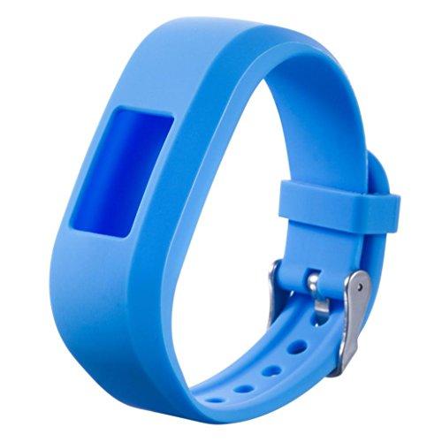 Ansenesna Sport Uhrenarmband Einstellen Silikon Sport Ersetzerband für Garmin Vivo Fit Junior Armband (Himmelblau)
