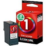 Lexmark Cartridge No. 1 - 018CX781B - Cartouche d'encre d'origine 1 x couleur (cyan, magenta, jaune) boîtier rigide