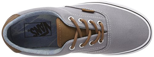 Vans Era 59, Zapatillas Unisex Adulto, Gris (C/Yellow), 44 EU