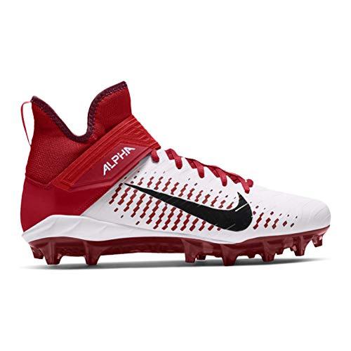 Nike Alpha Menace Pro 2 Mid American Football Rasen Schuhe - weiß/rot Gr. 11 US