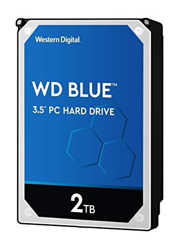 WD Blue - Disco duro para ordenadores de sobremesa de 2 TB (5400 rpm, SATA a 6 Gb/s, 64 MB de caché, 3,5') azul