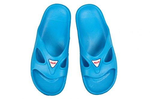 AQUA-SPEED® CORSICA Scivoli Spiaggia di Signora (Navy Blu Scarpe balneari Suola antiscivolo Piscina Holiday Mare + UP®-Sticker) Hellblau 02