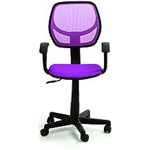 greenforest silla de escritorio altura ajustable silla giratoria de ordenador para nios habitacin violeta