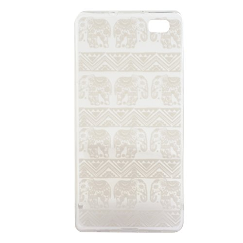 Voguecase® Pour Apple iPhone 5C, Ultra-minces TPU Silicone Shell Housse Coque Étui Case Cover (plume grise)+ Gratuit stylet l'écran aléatoire universelle dentelle éléphant