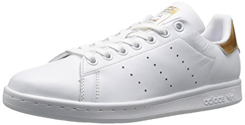 ADIDAS Women's Stan Smith Sneakers In White and Metallic (Comfort Smith Stan)