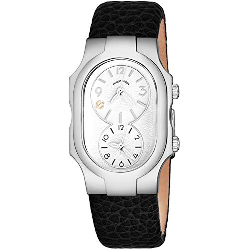 Philip Stein Women's Black Calfskin Band Steel Case Quartz Watch 1-FSW-CB