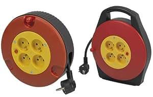 Enrouleur de câble 10 m PREE10315 noir prise française 1 pc(s)
