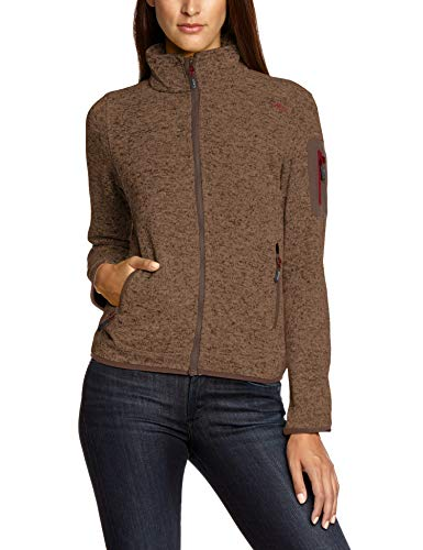 CMP Damen Strick Fleecejacke, Braun (Wood-Toffe-Wine), D34 100% Polyester-fleece