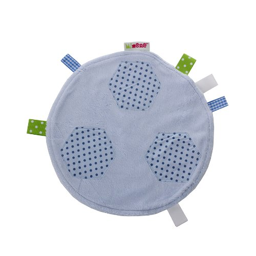 Minene Baby Comfort Blanket Comforter for Baby Security Tag Comforter Blankie- Blue Football