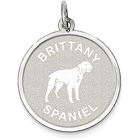 Sterling Silver Brittany Spaniel disco Charm