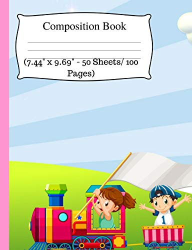Drive Kit Notebook (Composition Book: Cute Train Notebook, Wide Ruled Notebook for Kids, Cute Notebooks for School, Small Composition Notebook Wide Ruled, One Subject ... - 50 Sheets/ 100 Pages). Wide Ruled journal)