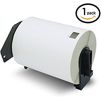 10 Rolls Brother-Compatible DK-22243 102mm x 30.48m Continuous Length Shipping Label With Refillable Cartridge