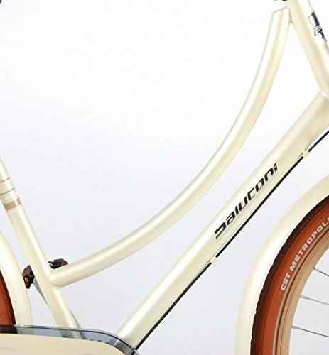 414gAwdVJRL - Salutoni Excellent 28 Inch 50 cm Woman 3SP Coaster Brake Cream
