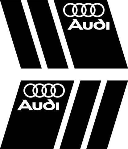 2 x Audi Logotipo negro Guardabarros Calcomanía Tuning Pegatinas Pegatina De Coche