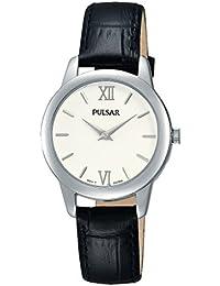 Pulsar Damen-Armbanduhr XS Quarz Analog Quarz Leder PRW021X1
