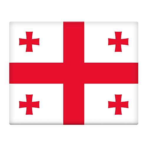 Flagge Georgien Land (Georgien Flagge 25,4x 20,3cm selbstklebend Blechschild 078)
