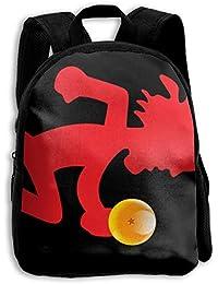 Sunmoonet Hatchetman and Dragon Ball Z Mashup Mochila para niños, Estilo Informal, de Lona