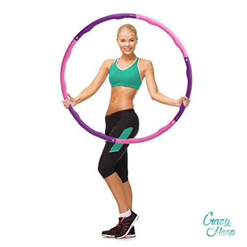 Crazy Hoop Light Hula Hoop Reifen Fitness-Reifen, 1,2kg Reifen mit Schaumstoff, zum abnehmen