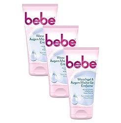 Bebe Waschgel & Augen Make-up Entferner | Sanfte Gesichtsreinigung Für Normale Bis Mischhaut | 3 X 150ml