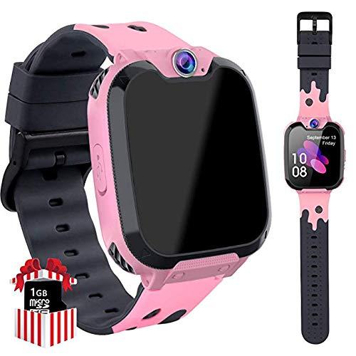 Game Smart Watch Phone per Studenti, Ragazzi e Ragazze 1.5 HD Touch Screen a Schermo Piatto Informazioni su MP3 Lettore Fotocamera Sveglia, 3-12 Anni Regalo Per Bambini (X9 Rosa)