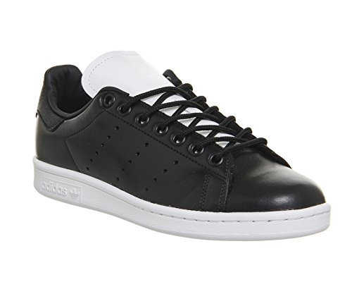 Adidas - Basket Stan Smith S80024 Blanc/Rose Noir (Black/Black/Black)
